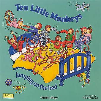 Tien aapjes springen op het Bed door Tina Freeman - Pam Adams - A
