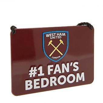 West Ham United FC Official Bedroom No. 1 Fan Sign
