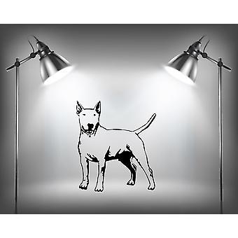 英国のブルテリア犬のウォール ステッカー