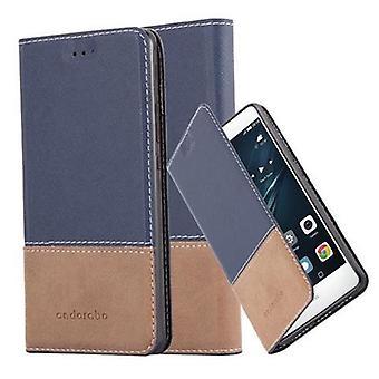 Estojo Cadorabo para tampa da caixa do Huawei P9 LITE - estojo telefônico com fecho magnético, função de suporte e compartimento do cartão - Case Cover Protective Case Case Book Estilo de dobra