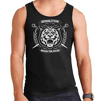 Demolition Break The Rules Tiger Motif Men's Vest