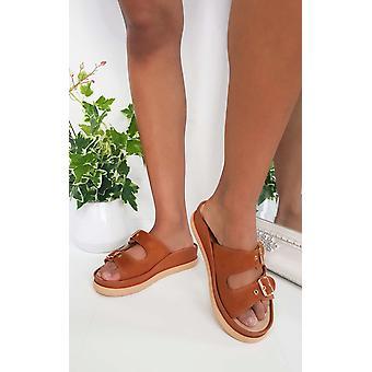 IKRUSH Womens Ari Double boucle coincée sandales
