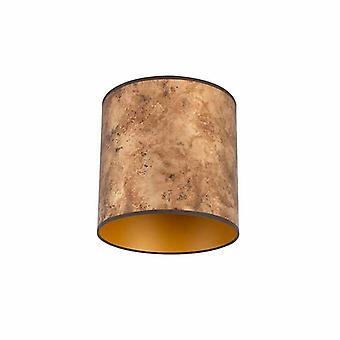QAZQA Lampshade bronze 25/25/25 com interior dourado
