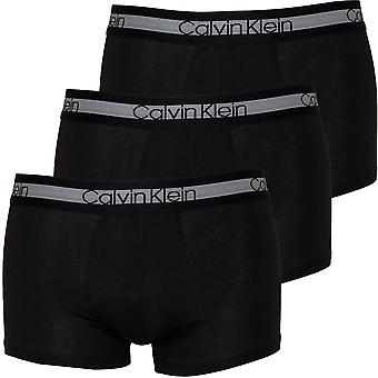 Calvin Klein 3er-Pack Kühlung Cotton Stretch Boxer Trunks, schwarz