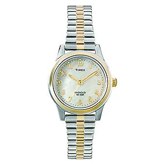 T2M828 Classic aço inoxidável relógio de pulso Timex feminino analógico, multicolor