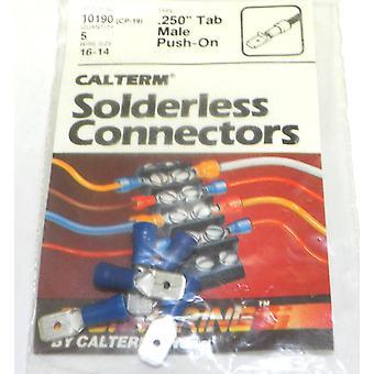 Calterm 10190 (CP-19) filo dimensioni 16-14 restyling,250 scheda Connettori maschio 5 pz