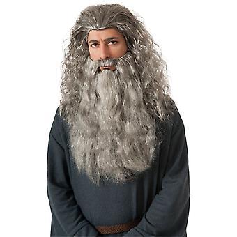 Peruukki ja parta Gandalf puku