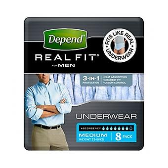 Depend Real Fit Underwear Med M 8S