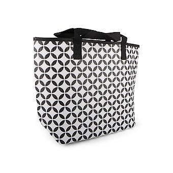 Cooler Bag high black/white patterned