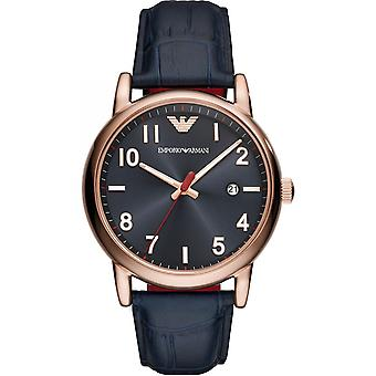 Emporio Armani Mens Gents Rose Gold Case pols horloge AR11135