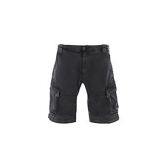 C.p. Société 06cmbe105a005370s999 Men-apos;s Black Cotton Shorts