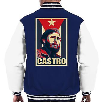 Castro Propaganda Poster Men's Varsity Jacket