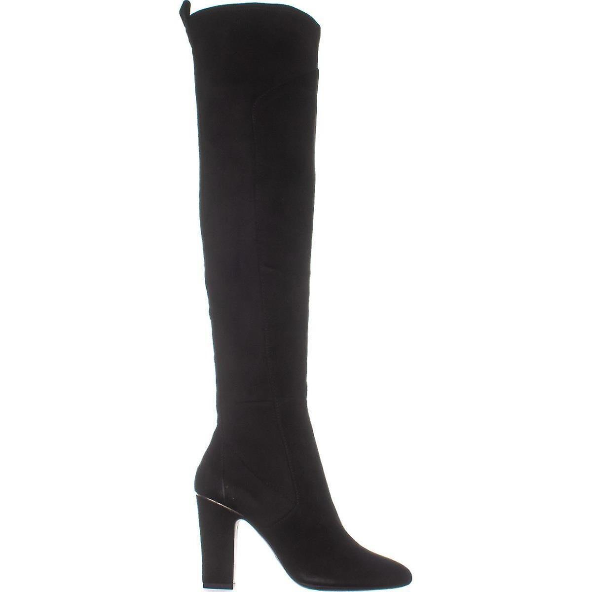 Dkny Womens Sloane Skinn Mandel Toe Over Kneet Mote Støvler