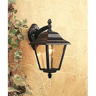 Firstlight-1 Light Outdoor 4 Panel Lantern-Downlight Black IP43-E201BK