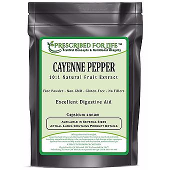 Cayenne Pepper - Natural Fruit Powder Extract 10:1 (Capsicum annum)