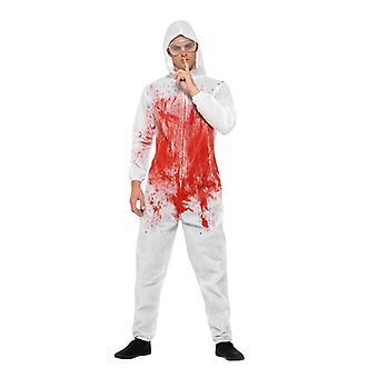 Alb Bloodsmeared general TtatortReiniger criminalistica costum adult unisex