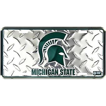 Michigan State Spartans NCAA «Diamond» plaque d'immatriculation