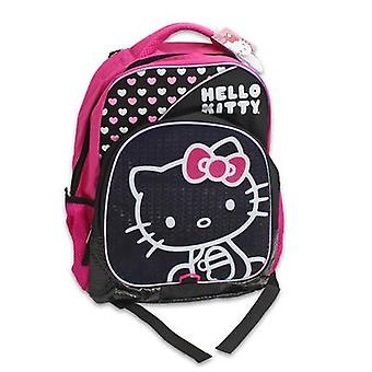 Backpack - Hello Kitty - Pink & White Hearts 16