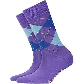 Chaussettes Burlington Marylebone - Purple/Teal/Blue