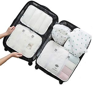Set of organizing bags, 6 parts-White