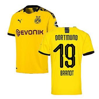 2019-2020 Borussia Dortmund Puma Home Football Shirt (Brandt 19)