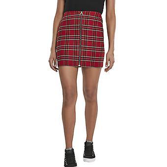 Urban Classics Ladies-TARTAN brittiska Checker kjol röd