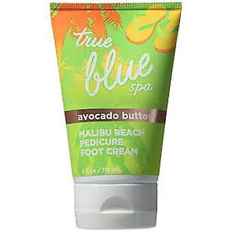Bath & Body Works True Blue Spa Avocado Butter Malibu Beach Pedicure Foot Cream 4 oz / 118 ml (2 Pack)