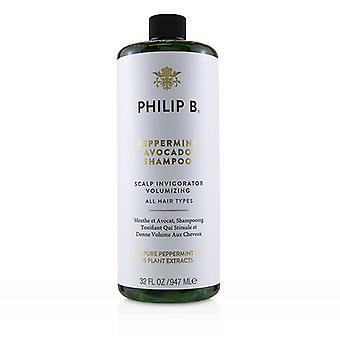 Champú de aguacate Philip B Peppermint (envigorizante de cuero cabelludo - Todos los tipos de cabello) - 947ml/32oz