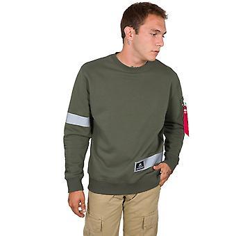 Alpha Industries Herren Sweatshirt Reflective Stripes