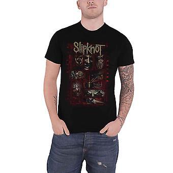 Slipknot T Shirt Sketch Boxes Band Logo nouveau noir officiel pour homme