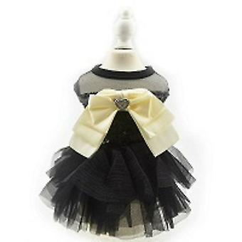 Zwarte pailletten Tutu prinses hond jurk