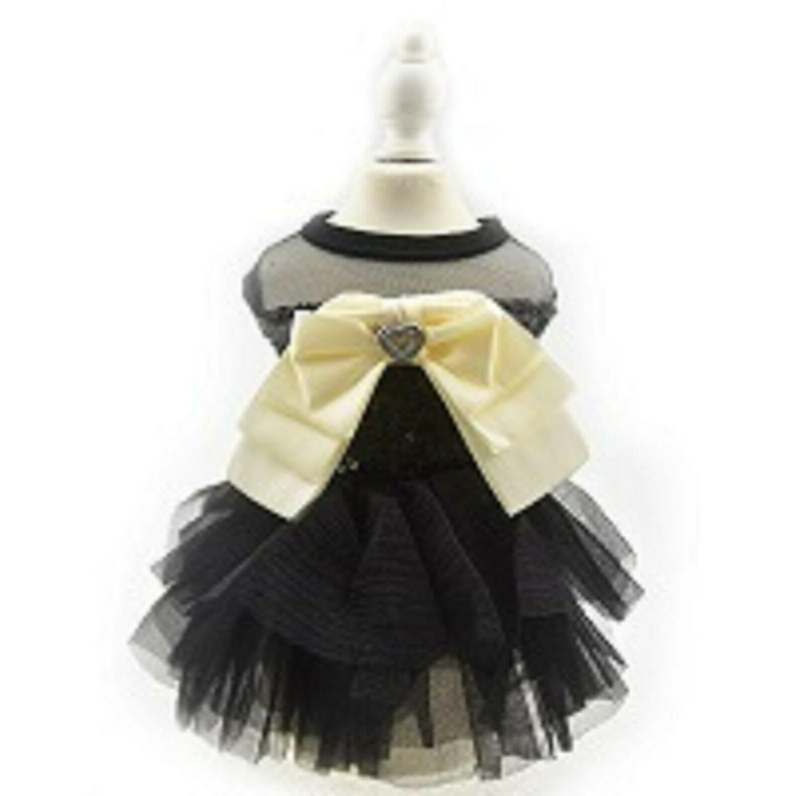 Black Sequin Tutu Princess Dog Dress