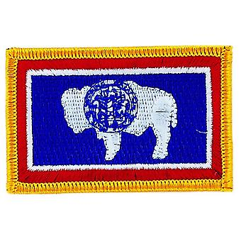 Patch Ecusson Brode Flag Wyoming Thermocollant USA Americain USA
