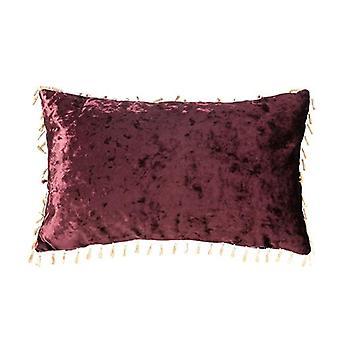 Changement de canapés Mulberry Rectangular Crushed Velvet Scatter Cushion