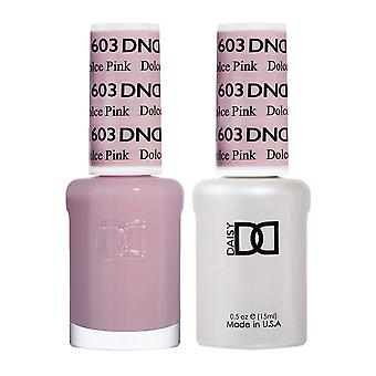 Dnd Duo Gel & Nail Polish Set - Dolce Pink 603 - 2x15ml