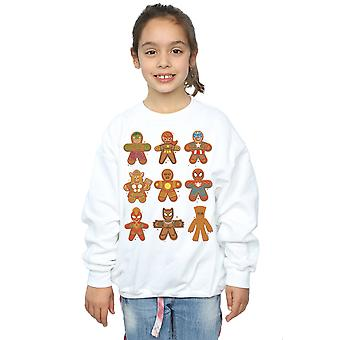 Marvel Girls Avengers Christmas Gingerbread Sweatshirt