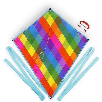 Rainbow rutete Diamond kite