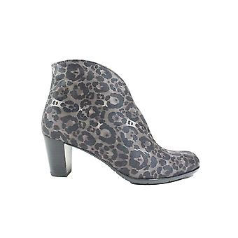 Ara Toulouse-St 43408-65 Grey Leopard Print Womens Heeled Ankle Boots