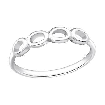 Circle - 925 Sterling Silver Plain Rings - W20660x