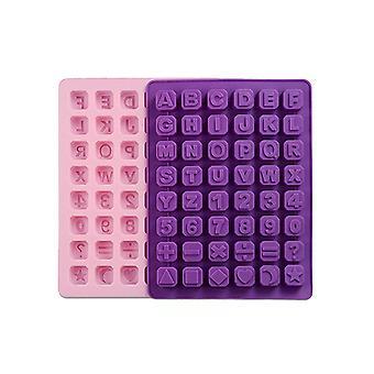 Vincenza Silikon Alphabet Buchstaben & Zahlen Eis hersteller Pudding Backwaren Form