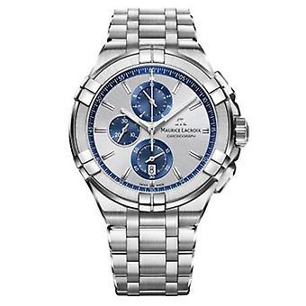 Maurice LaCroix Aikon Chronograph Silver Steel Men's Watch