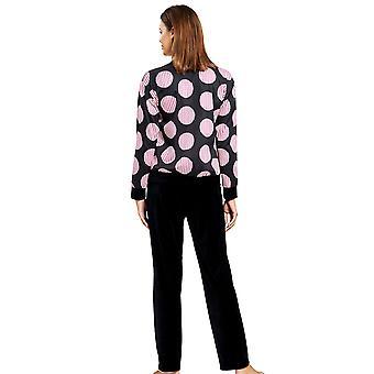 Féraud 3201073-10996 Frauen's Couture schwarz Print gefleckt Loungewear Set