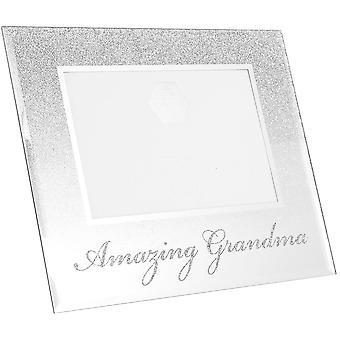 Lesser & Pavey Glitter Mirror Frame Amazing Grandma 4x6