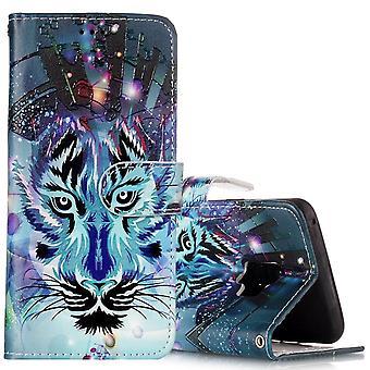 Für Samsung Galaxy S9 Brieftasche Fall Leder Wolf Muster