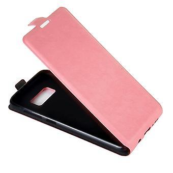 Für Samsung Galaxy S8 Fall, elegante vertikale Flip Schutz lederAbdeckung, rosa