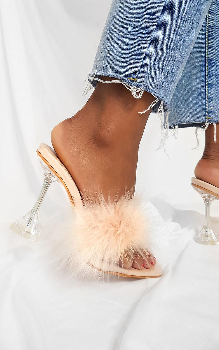 IKRUSH Womens Darling Feather Statement Heels