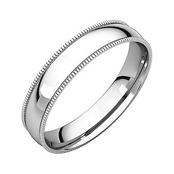 925 Sterling Silver 4mm Milgrain Light Comfort Fit Band Ring Size 11 Jewelry Gifts for Women