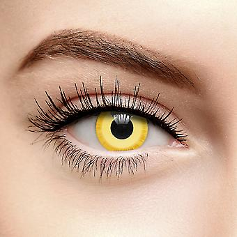 Yellow Avatar Colored Contact Lenses (30 Day)