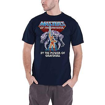 He Man T Shirt Power Of Grayskull Logo new Official Mens Navy