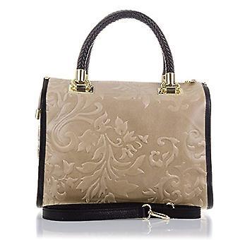 Florence Artegiani Bolso De Mujer Piel Authentic Grabado Arabescos Messenger Bag 31 cm Brown (Taupe)